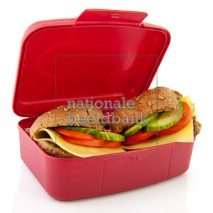Lunchbox with healthy bread rolls